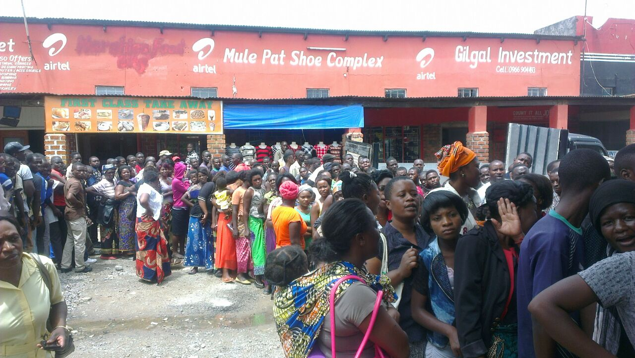 Millie meal queues in Chingola