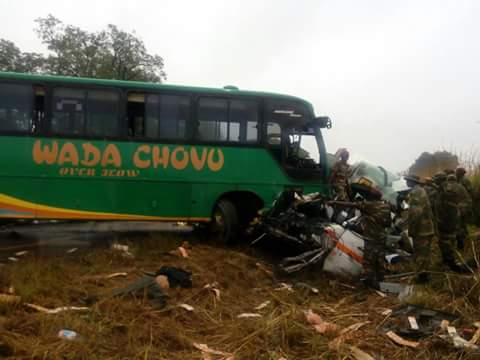 22 die on the spot in Great North road bus accident