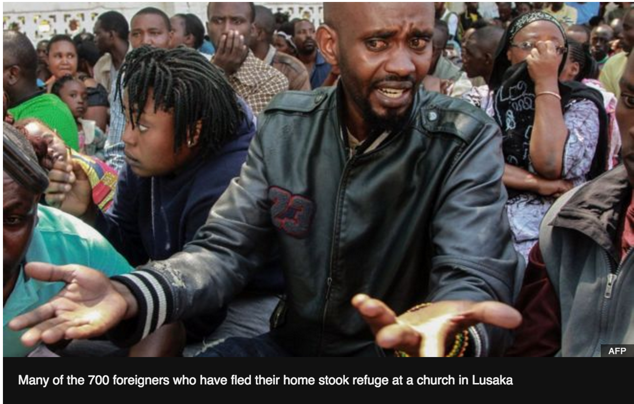 BBC'sLetter from Africa: Anger, fear and 'Afrophobia' in Zambia