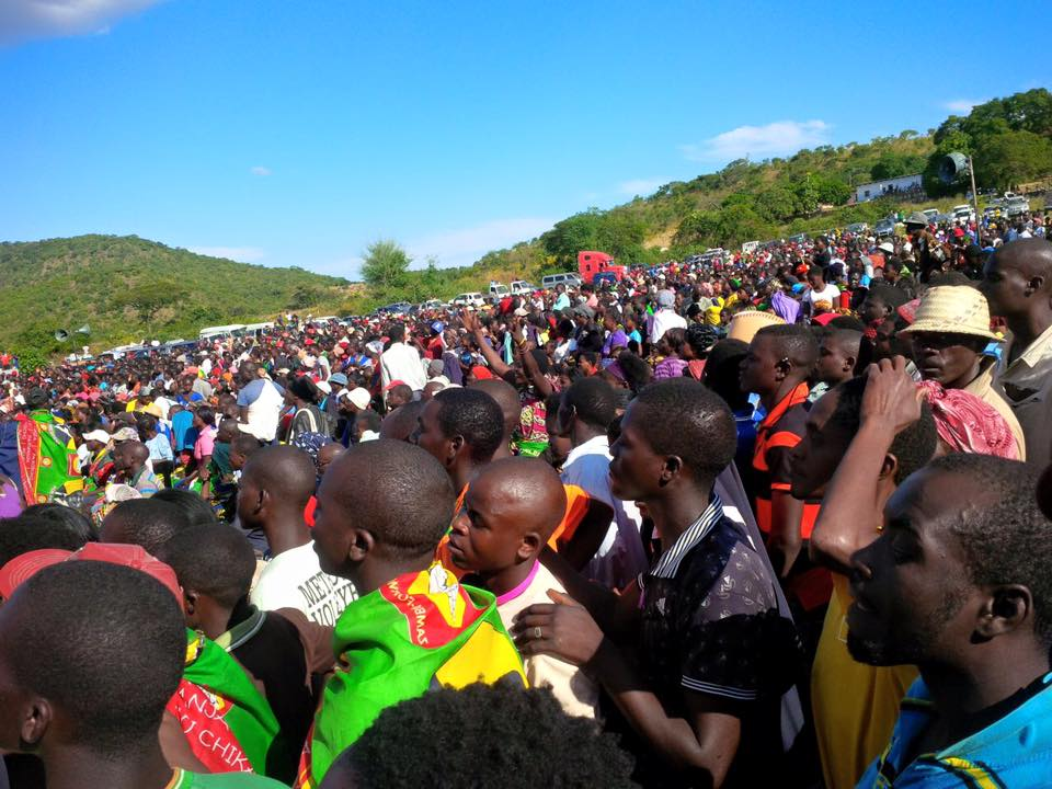 Photos of the day: UPND rally in Chongwe rural, as HH assures food security