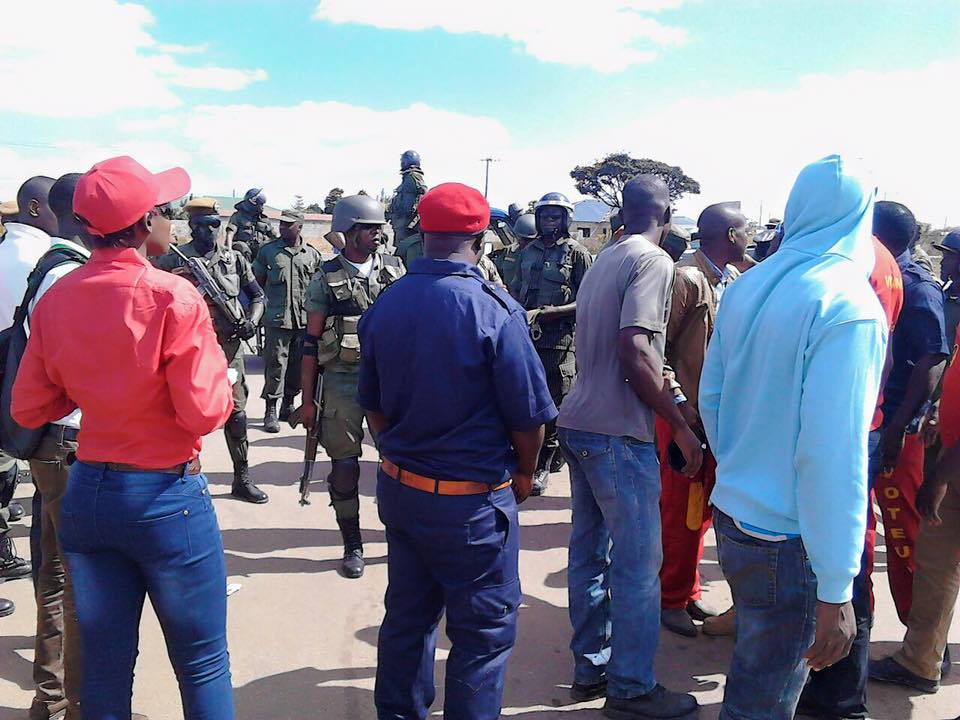 Hundreds of armed police sent to UPND rally in Kitwe