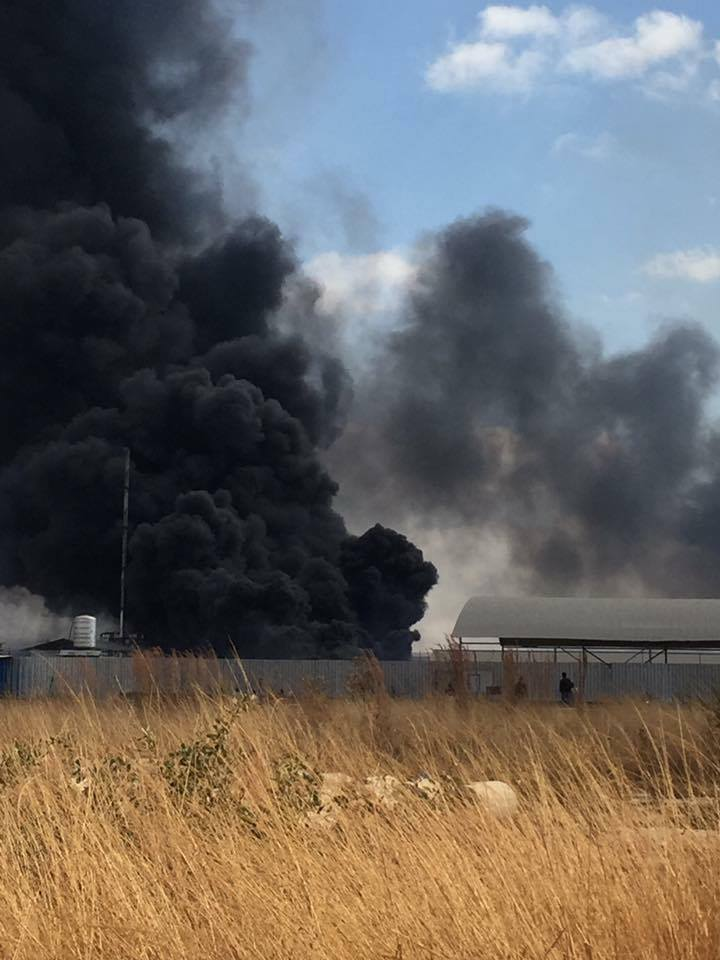 GBM's milling company on fire