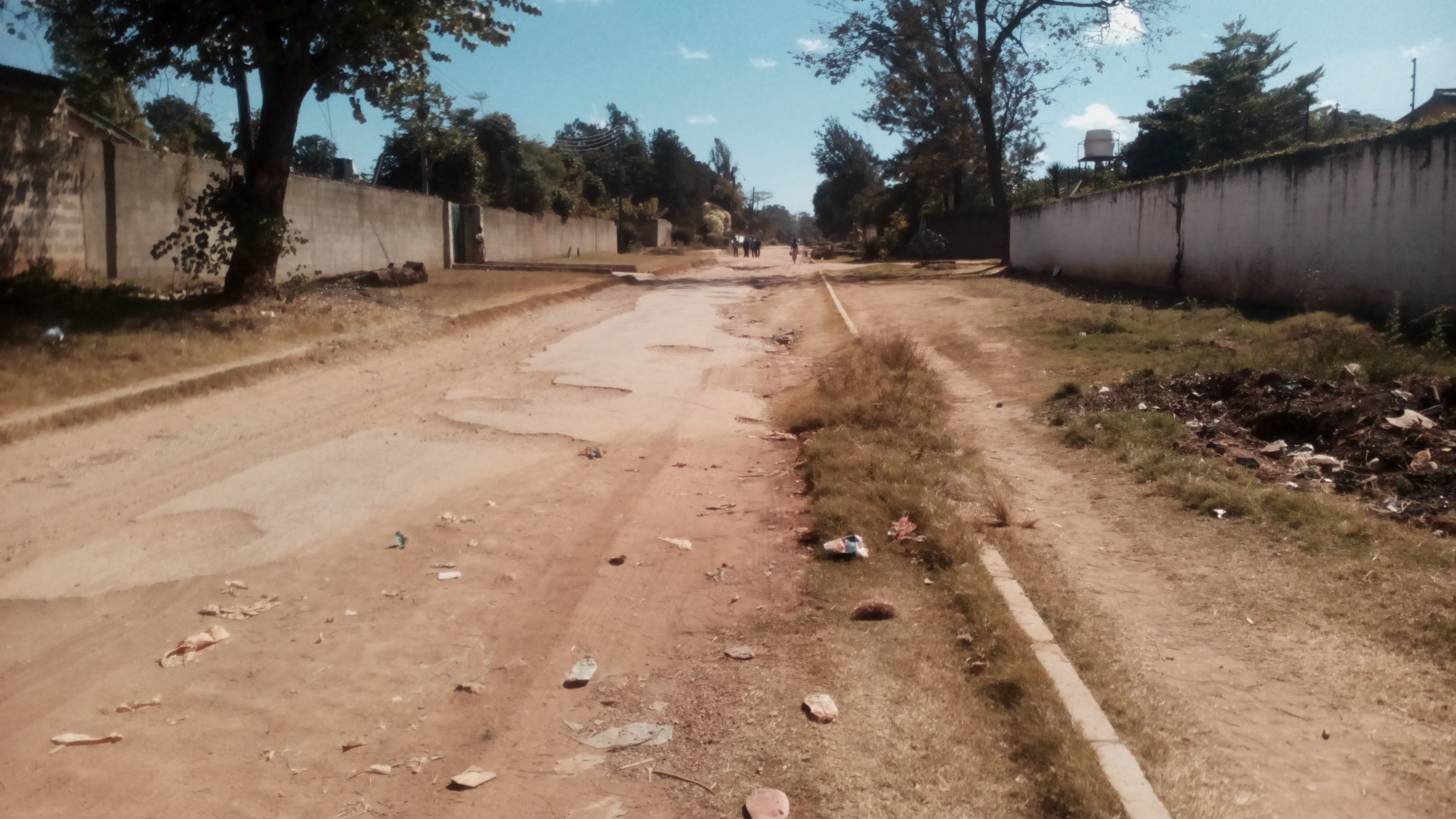 A road in Northrise, Ndola