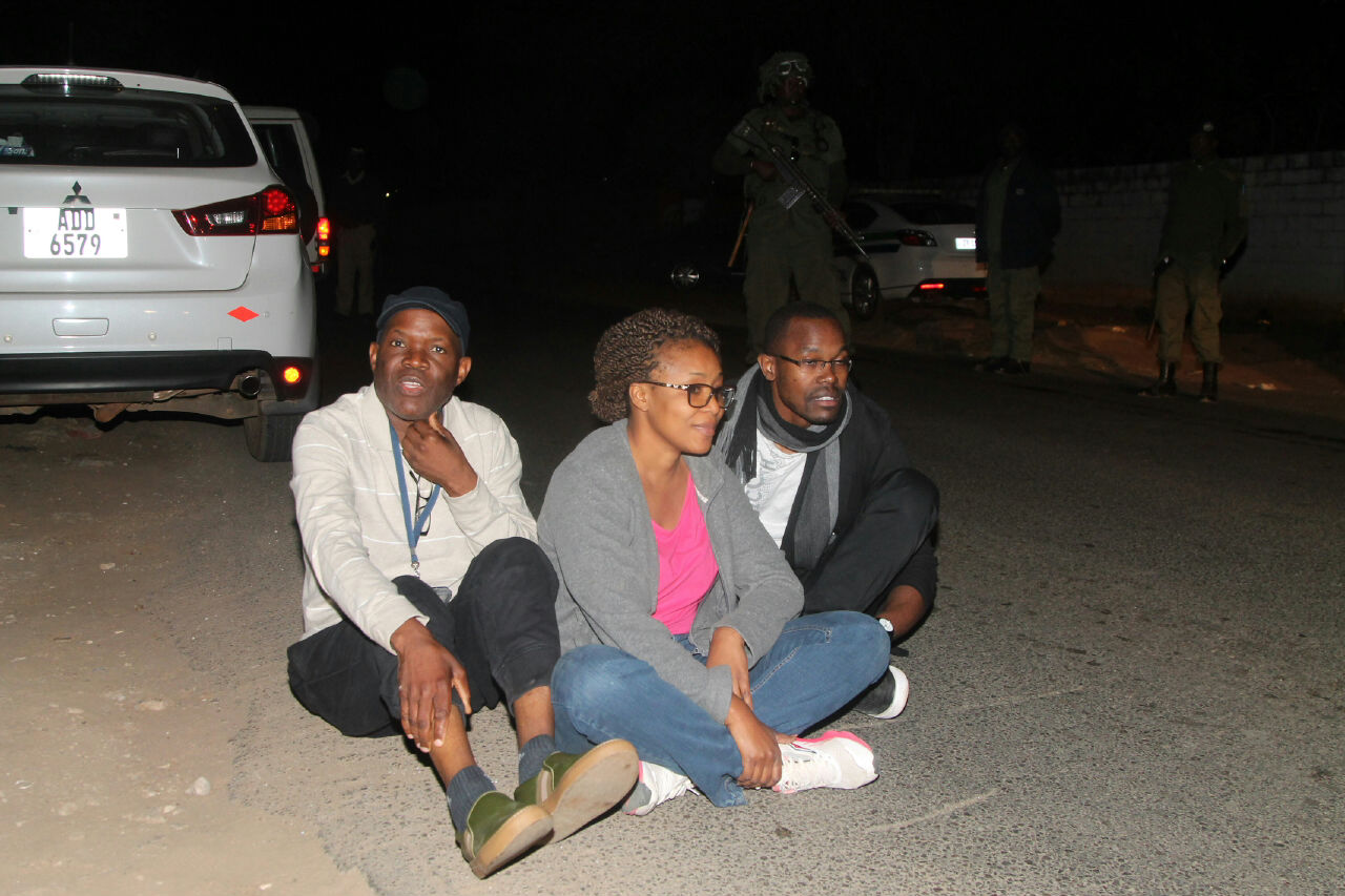 Police beat, arrest Fred M' membe, wife  & other journalists