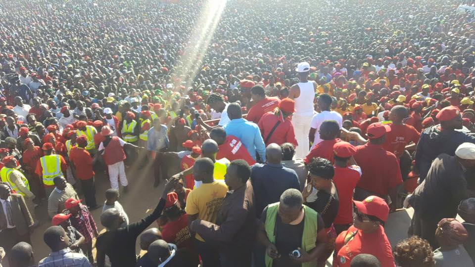 Photos of the day: UPND rally in Chawama