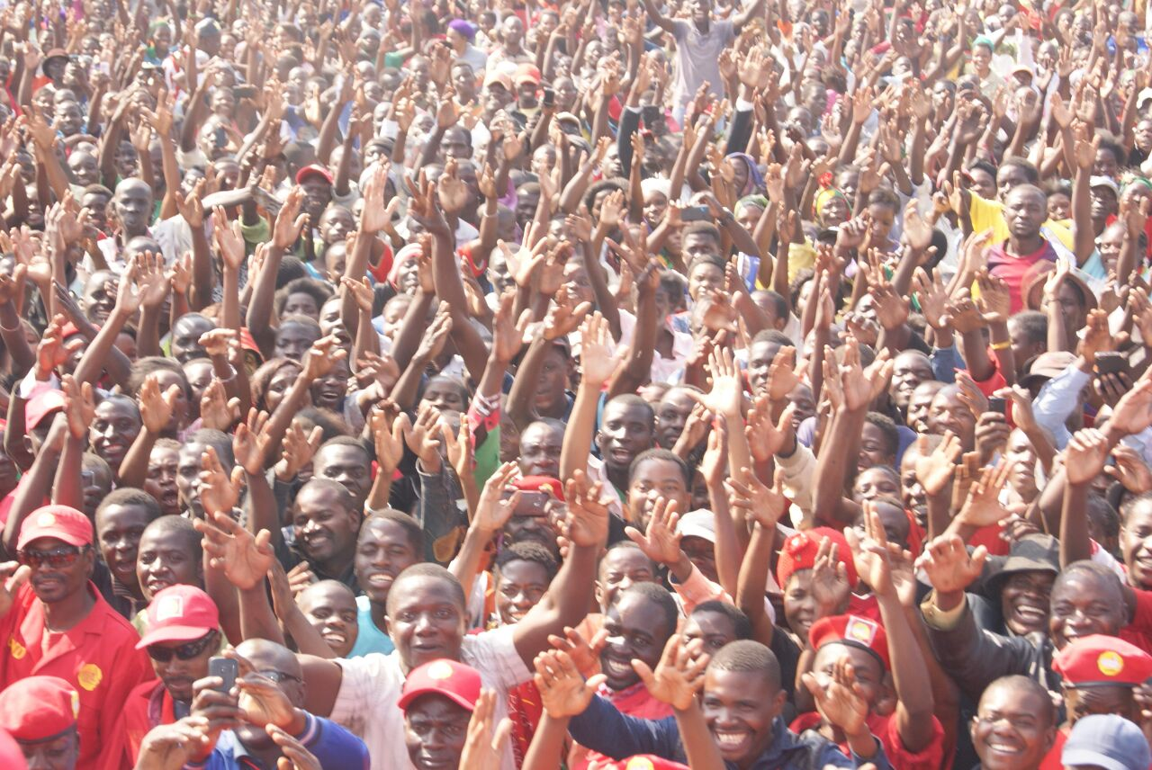 HH and other campaigners arrive in Mongu