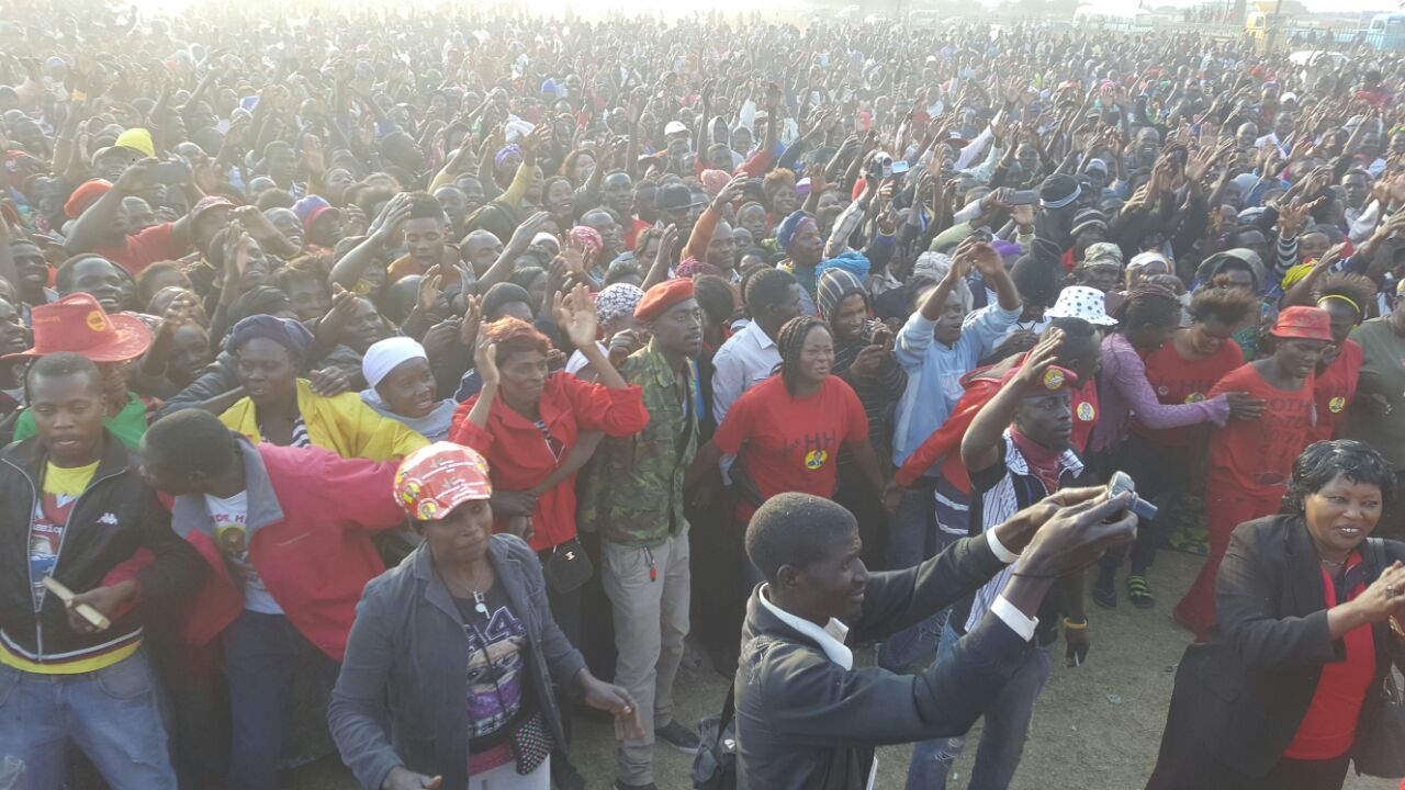 HH and team pound Chimwemwe Constituency