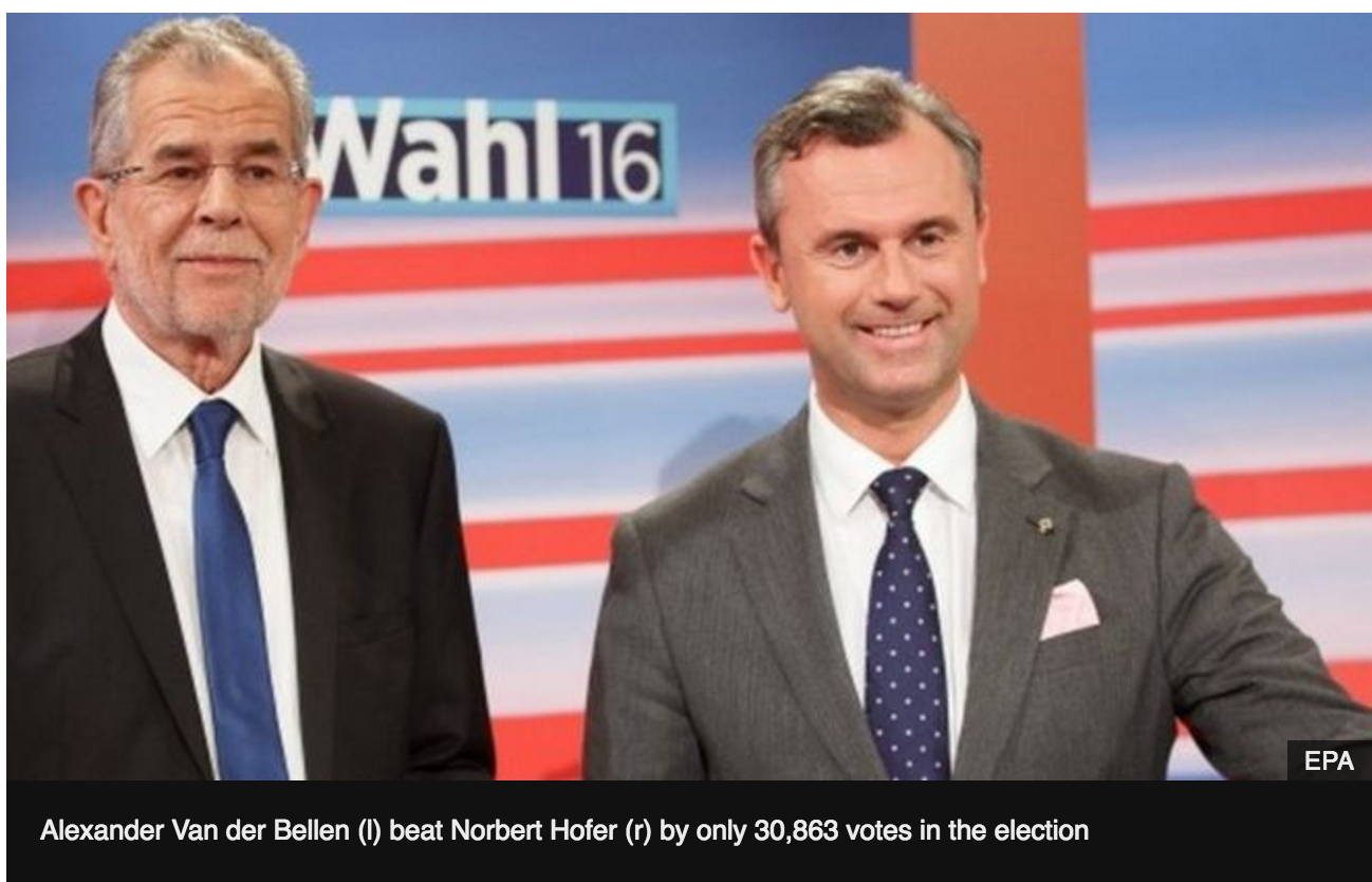 Austria presidential poll results overturned
