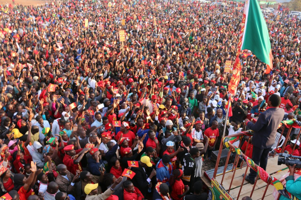 UPND concludes campaigns with Mtendere