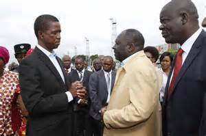 Left to Right: Lungu, Davies Chama and Davies Mwila