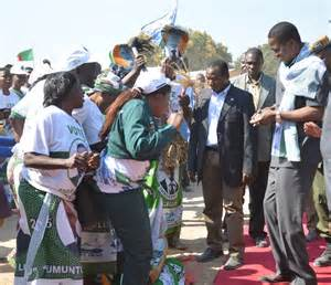File picture: Lungu dances in Ngabwe when he claimed all projects were funded