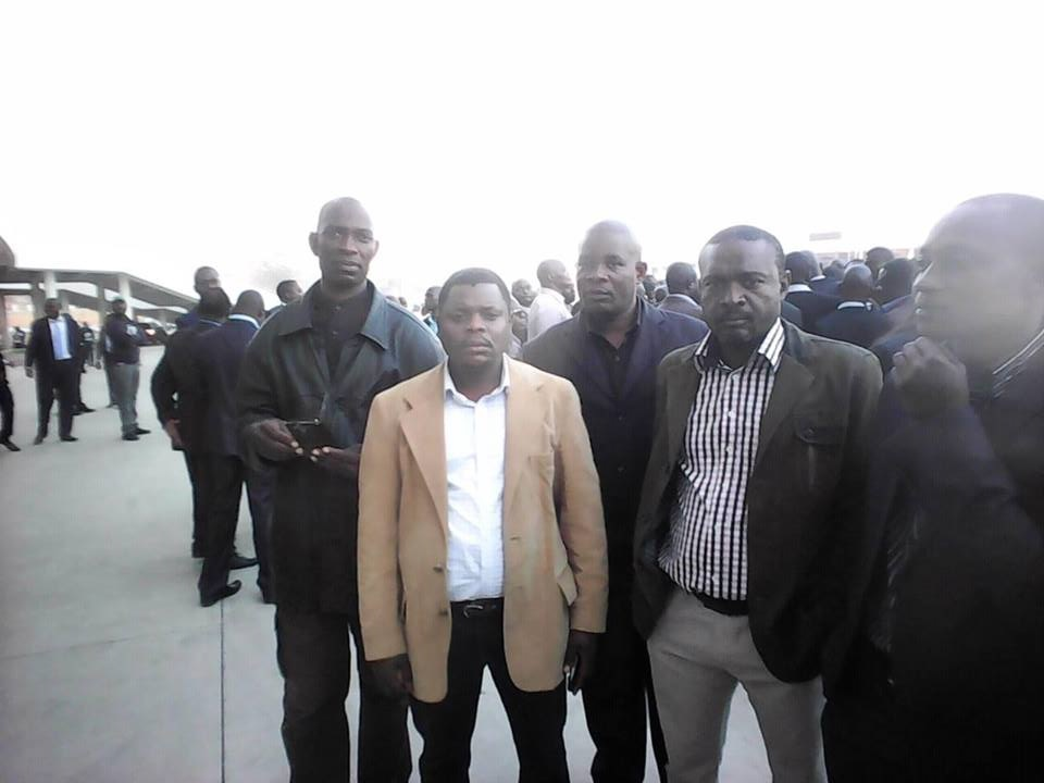 Kalifungwa (in checked shirt) with other PF supporters