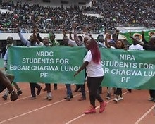 File picture: NRDC students Endorse Lungu before dununa reverse