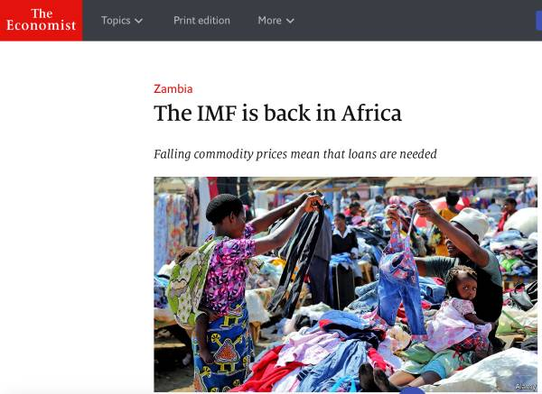 The Economist says bad IMF days back in Zambia