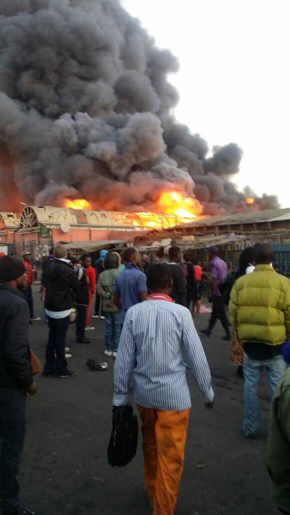 Developing Story……Lusaka City Market gutted