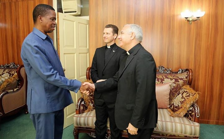 After meeting Pope's envoy, Lungu no longer too busy to meet Catholic Bishops