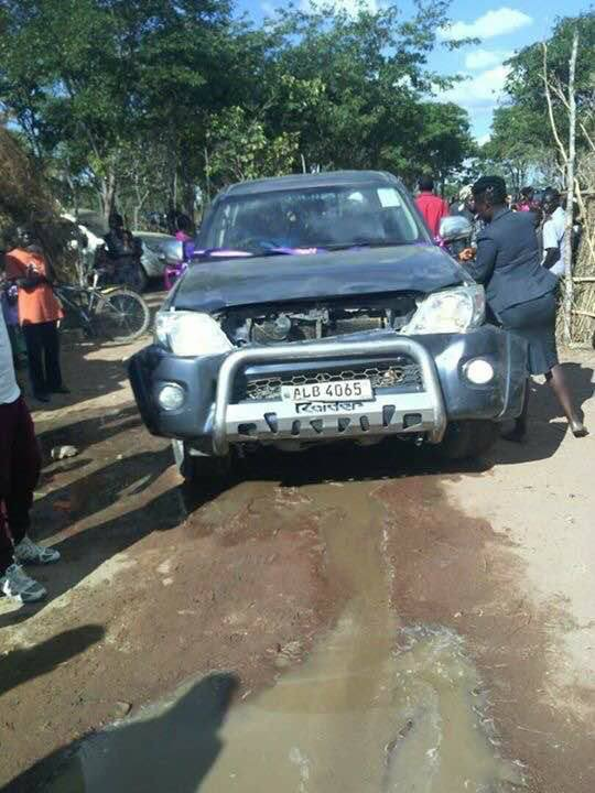 Now PF MP Sampa accuses UPND of deliberately bashing his car
