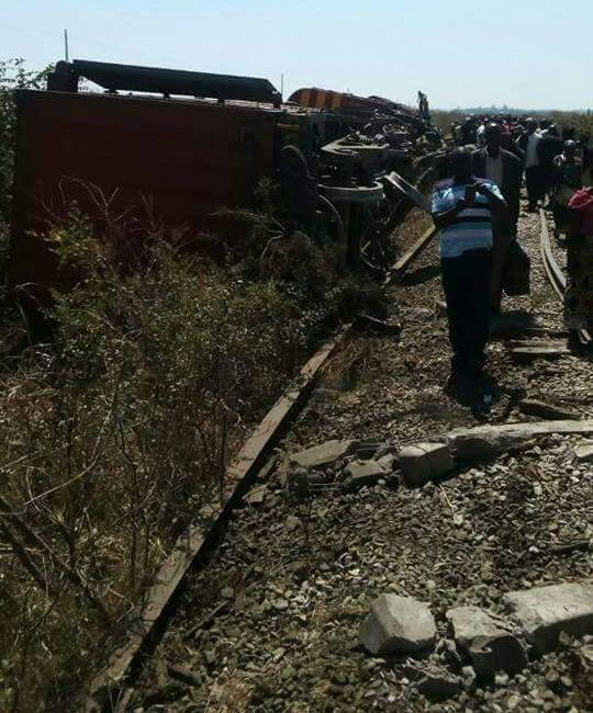 Zambia Railways train derailment leaves four coaches burnt