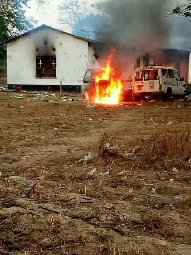Mufumbwe police burnt to ashes