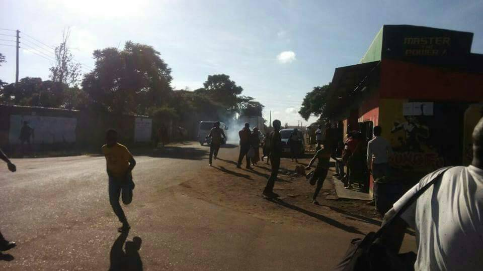 Riots break out in Kanyama