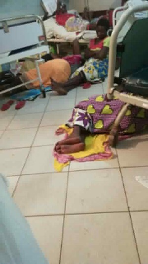 Picture of the day: patients on floor at UTH