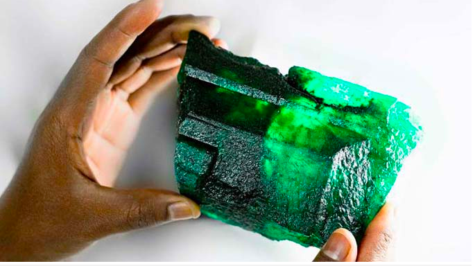 Miner finds giant 5,655-Carat emerald in Zambia worth at least £2m