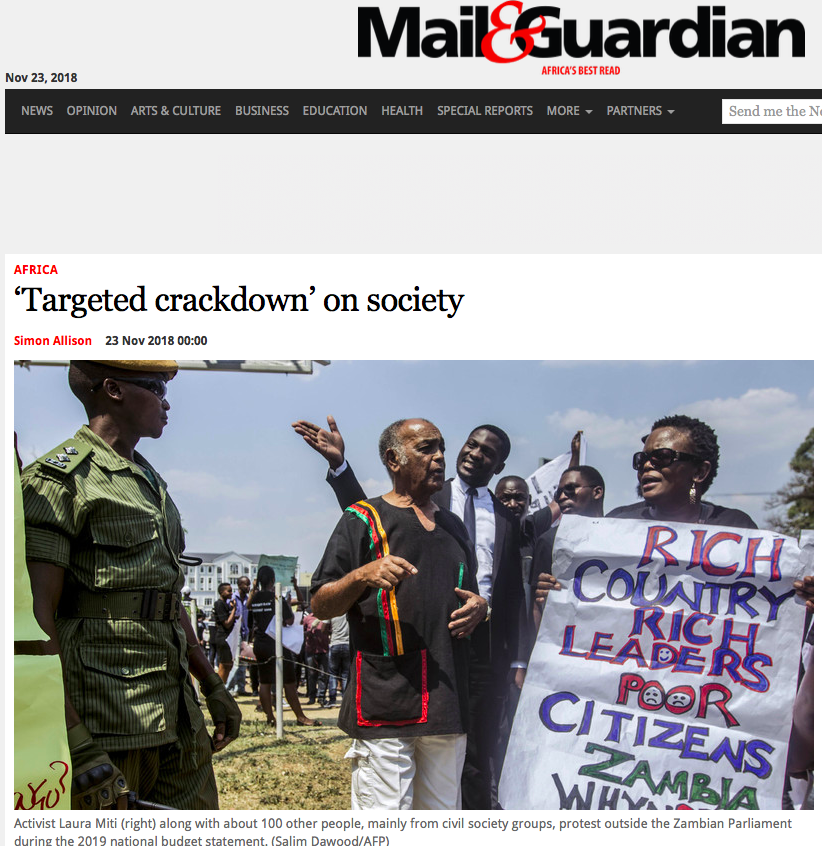 New Report: now dangerous to criticise Zambian government