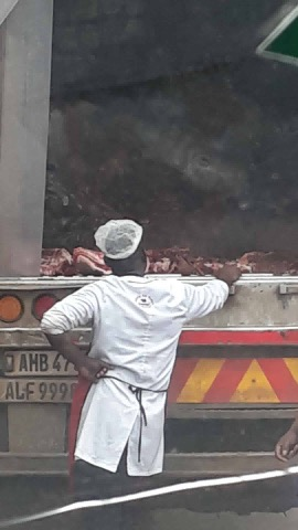 Photos of the day: how Zambeef transports meat
