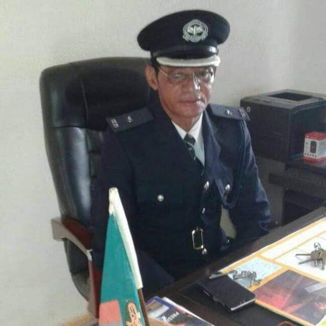 Chinese police at Zambia police headquarters