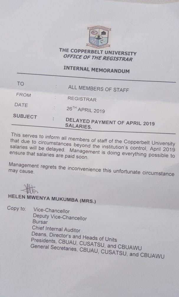 Not sure when you will be paid, CBU lecturers told
