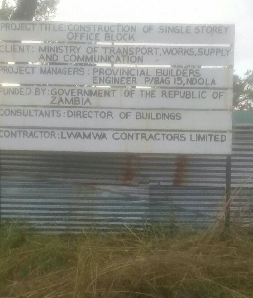 Incomplete projects in Lufwanyama