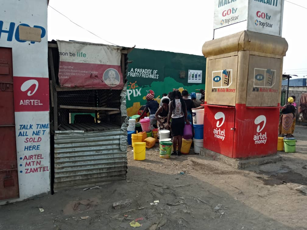 Photos of the day; water crisis in Kanyama
