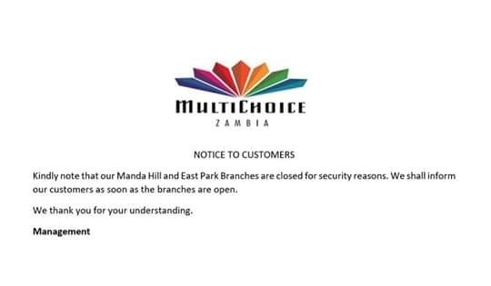 Multichoice Zambia closes offices