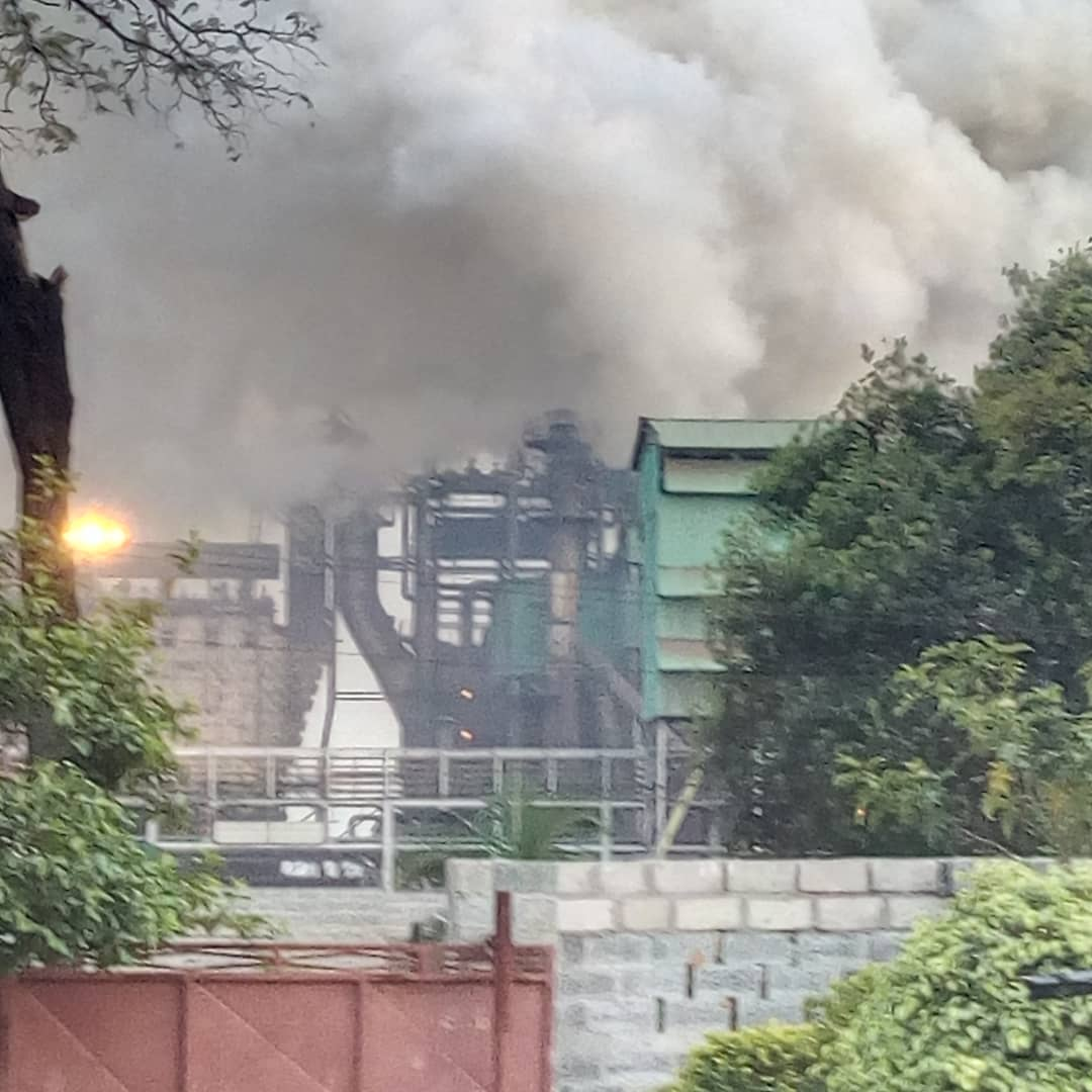 KCM smelter Catches fire