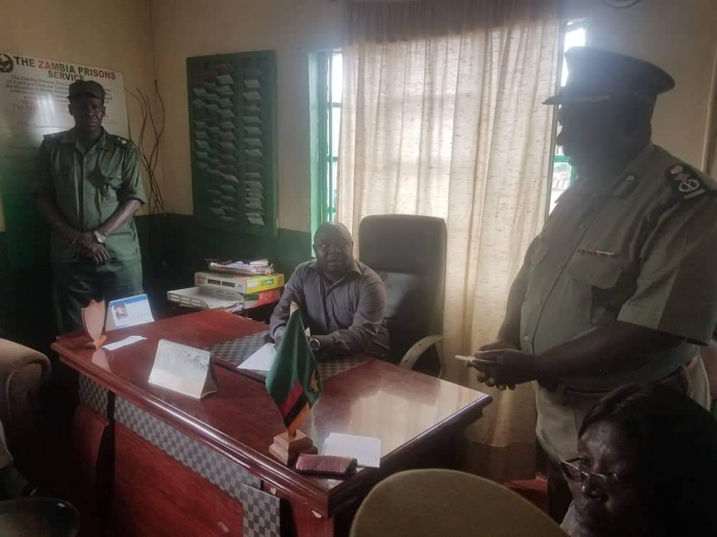 Photo of the day: PF cadre takes seat of prisons boss