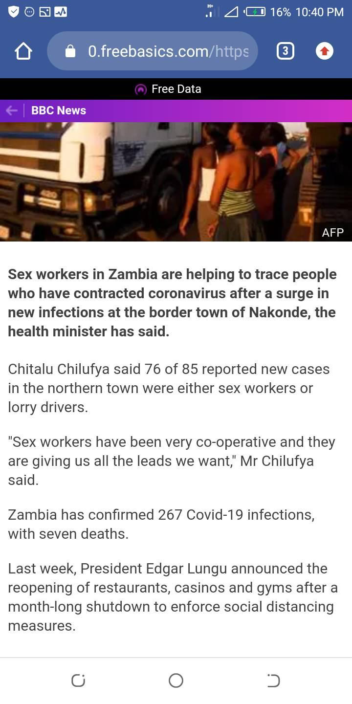 Sex workers, truck drivers and Covid 19 in Zambia