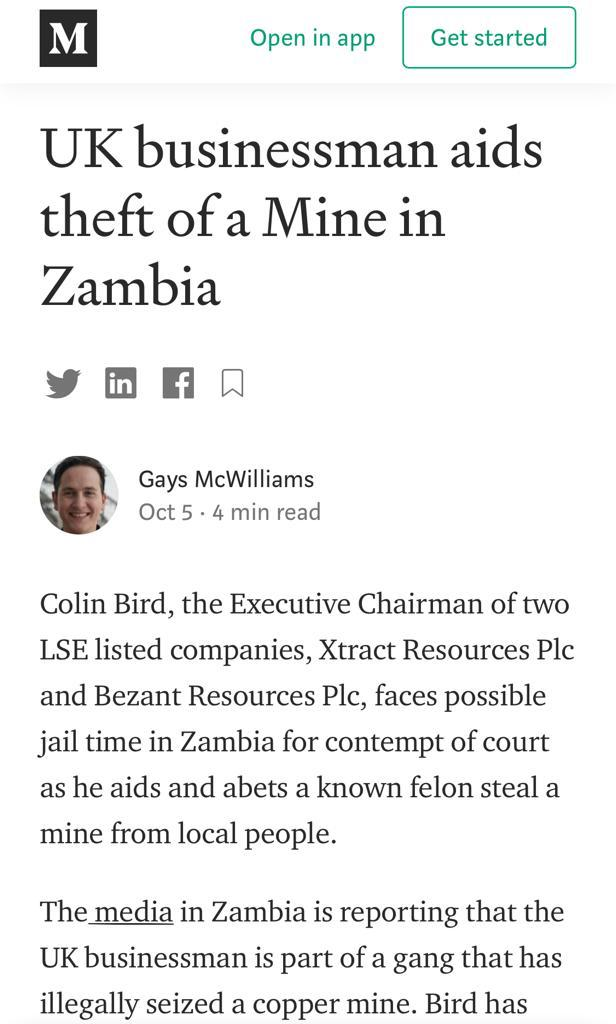 British businessman accused of stealing mine in Zambia