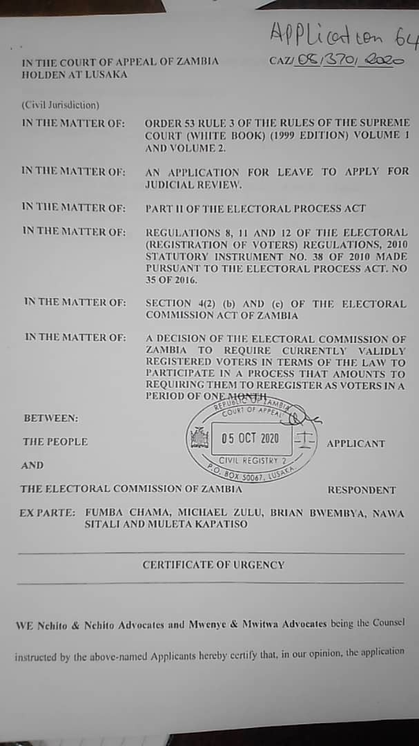 ECZ decision to discard voter's register goes to court of appeal