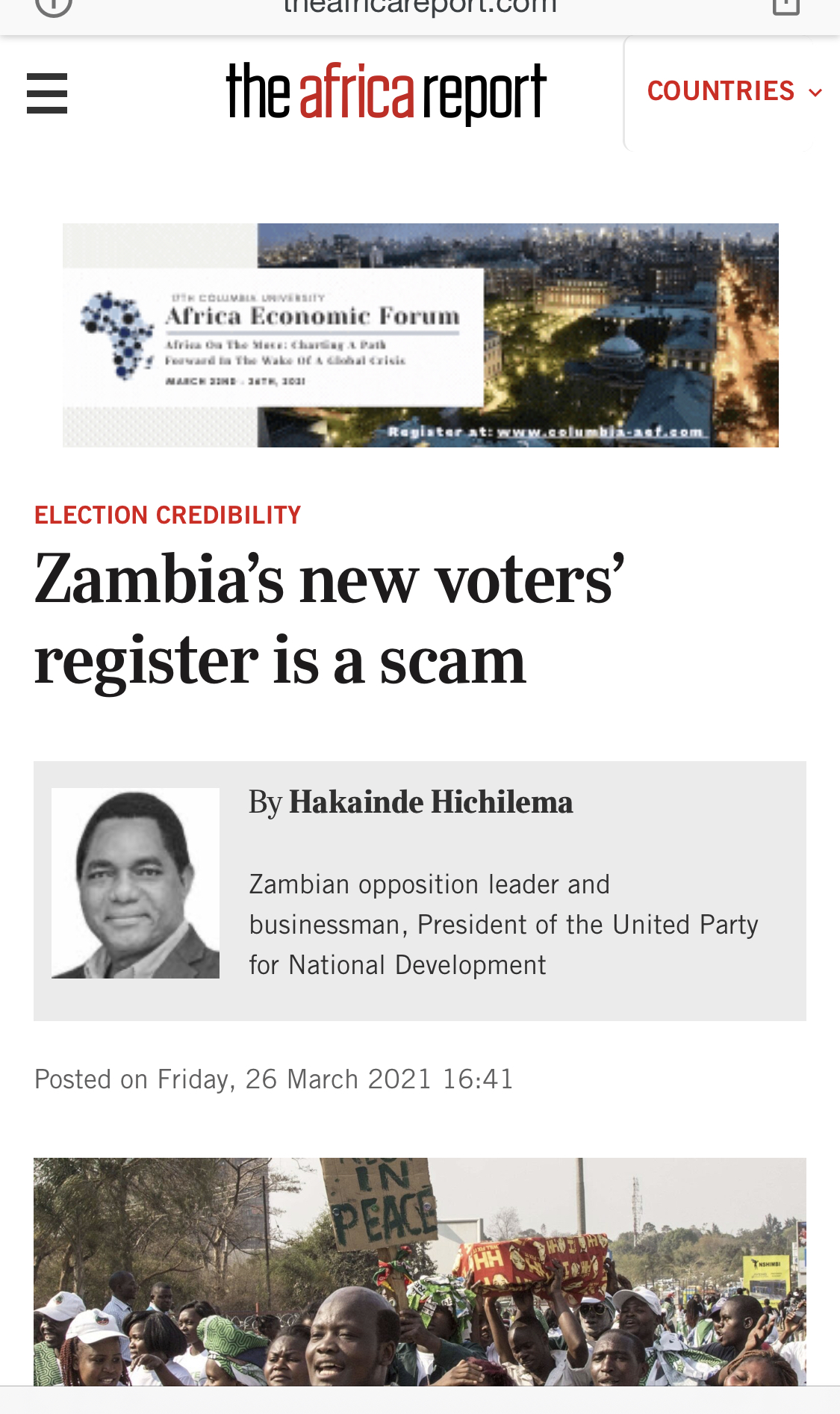 Zambia's new voter register is a scam
