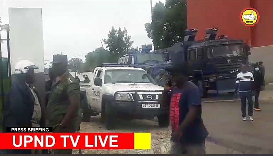 Police surround UPND offices