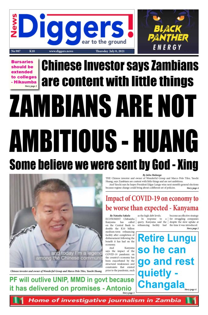 Zambians are content with little things – Chinese investor