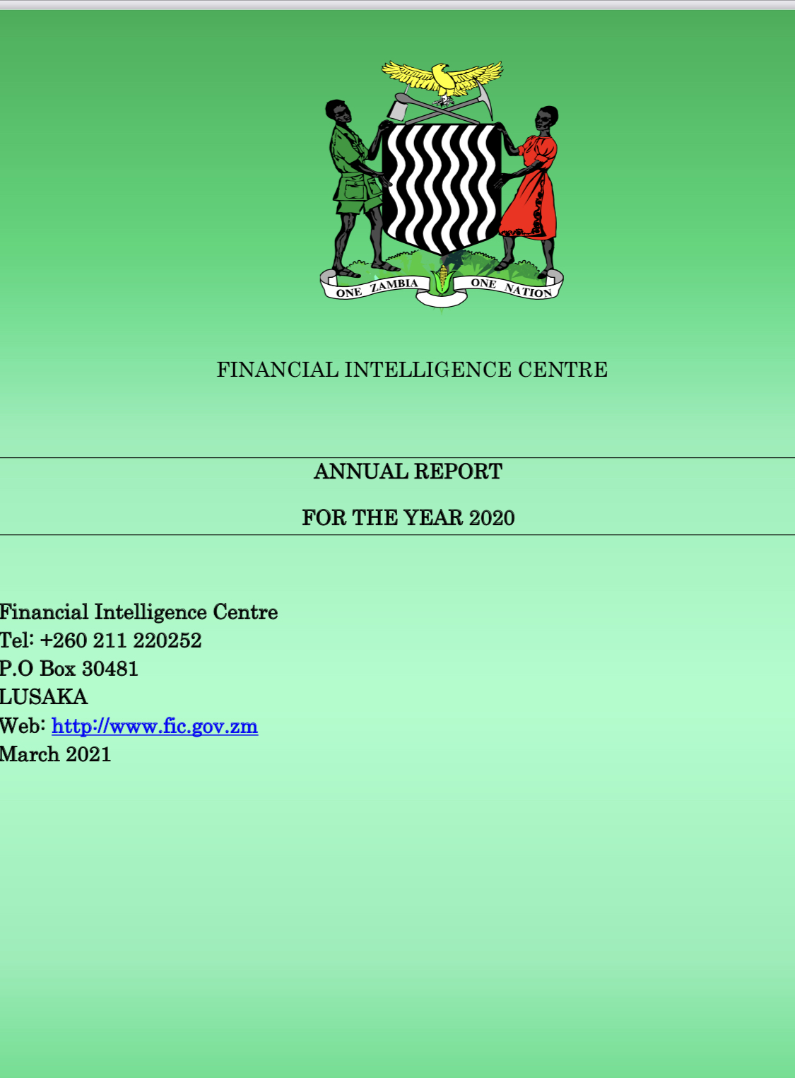 FIC says money laundering increased to K3b in 2020