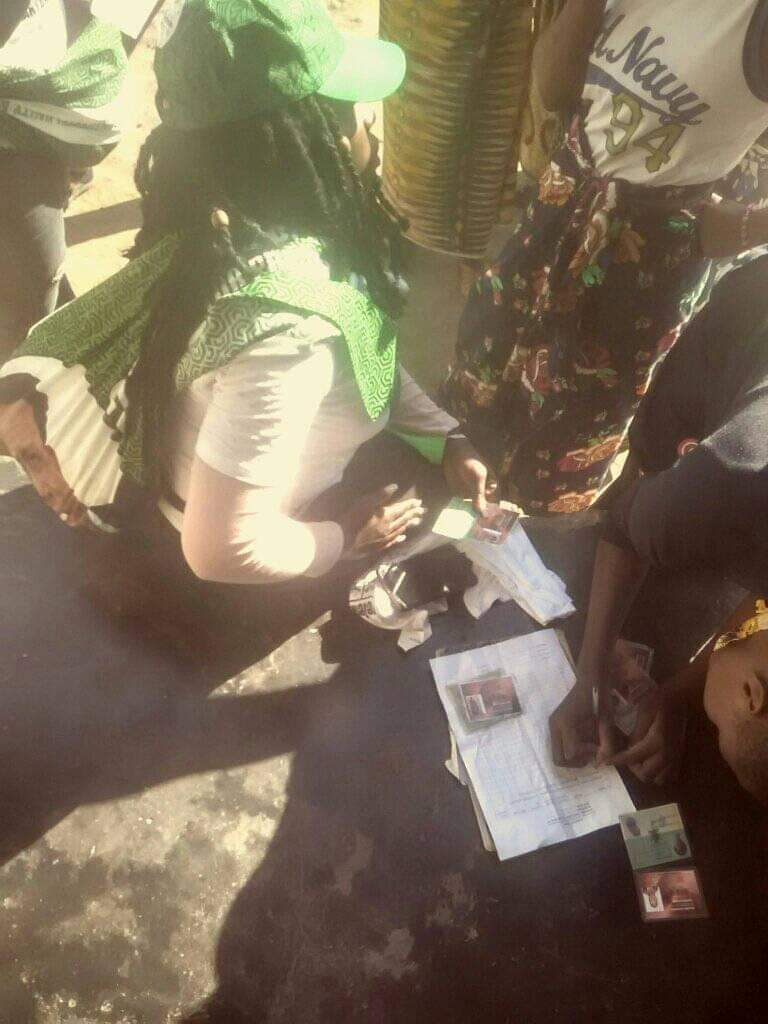 PF collecting voters cards details